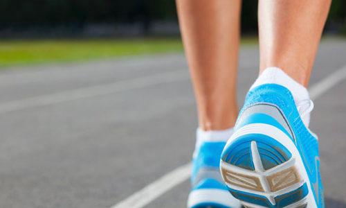 Woman enjoying the benefits of walking