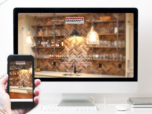 Cherished Woodcraft – website design