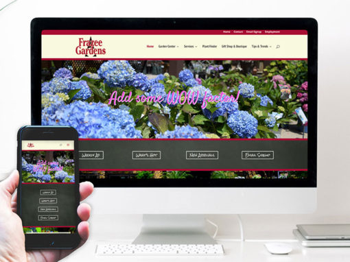 Frazee Gardens – website design