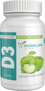 Vitamin D3 1000 IU Chewables Bottle, 60 Tablets