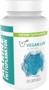 Vegan Life Nutrition Marine Phytoplankton Capsules Bottle