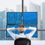 man studying stock market