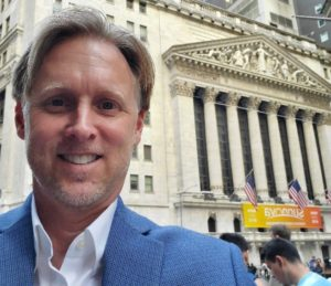 Jeff Headrick at New York Stock Exchange