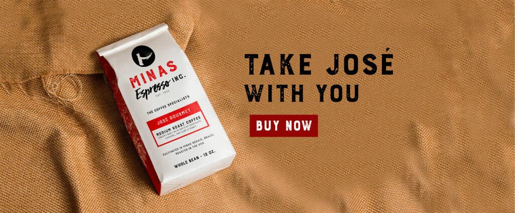 Brazilian coffee: Jose Gourmet Medium Roast Coffee from Minas Espresso.