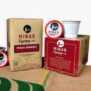Brazilian, medium roast coffee from Minas Espresso