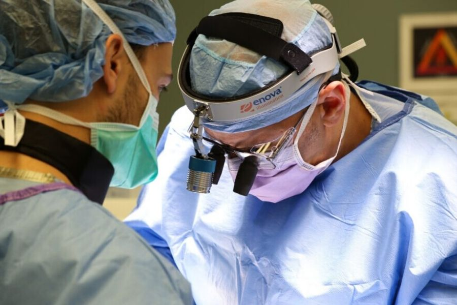 Dr. Sinicropi Performing Spine Surgery