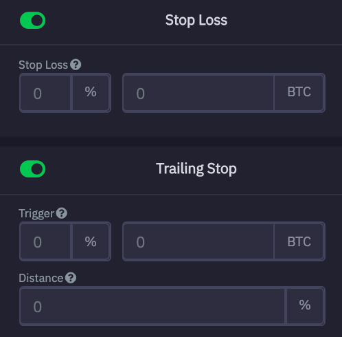 Zignaly Stop Loss & Trailing Stop