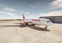 Avianca realiza su primer vuelo de carga en un B787, antes dedicado al transporte de pasajeros