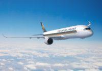 El vuelo más largo del mundo será entre Singapur y Nueva York