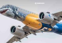 Llega a Panamá el 'tiburón' de Embraer, el E190-E2