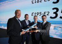 Embraer anuncia la intención de KLM para hasta 35 jets E195-E2