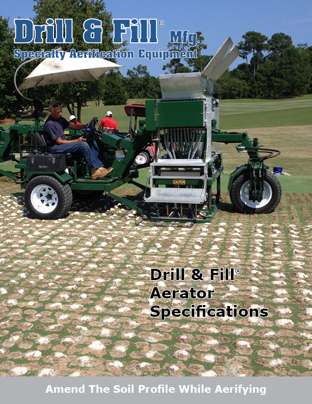 Drill & Fill Aerator Spec Sheet