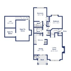 Willow 2BR 2BA 1300sf