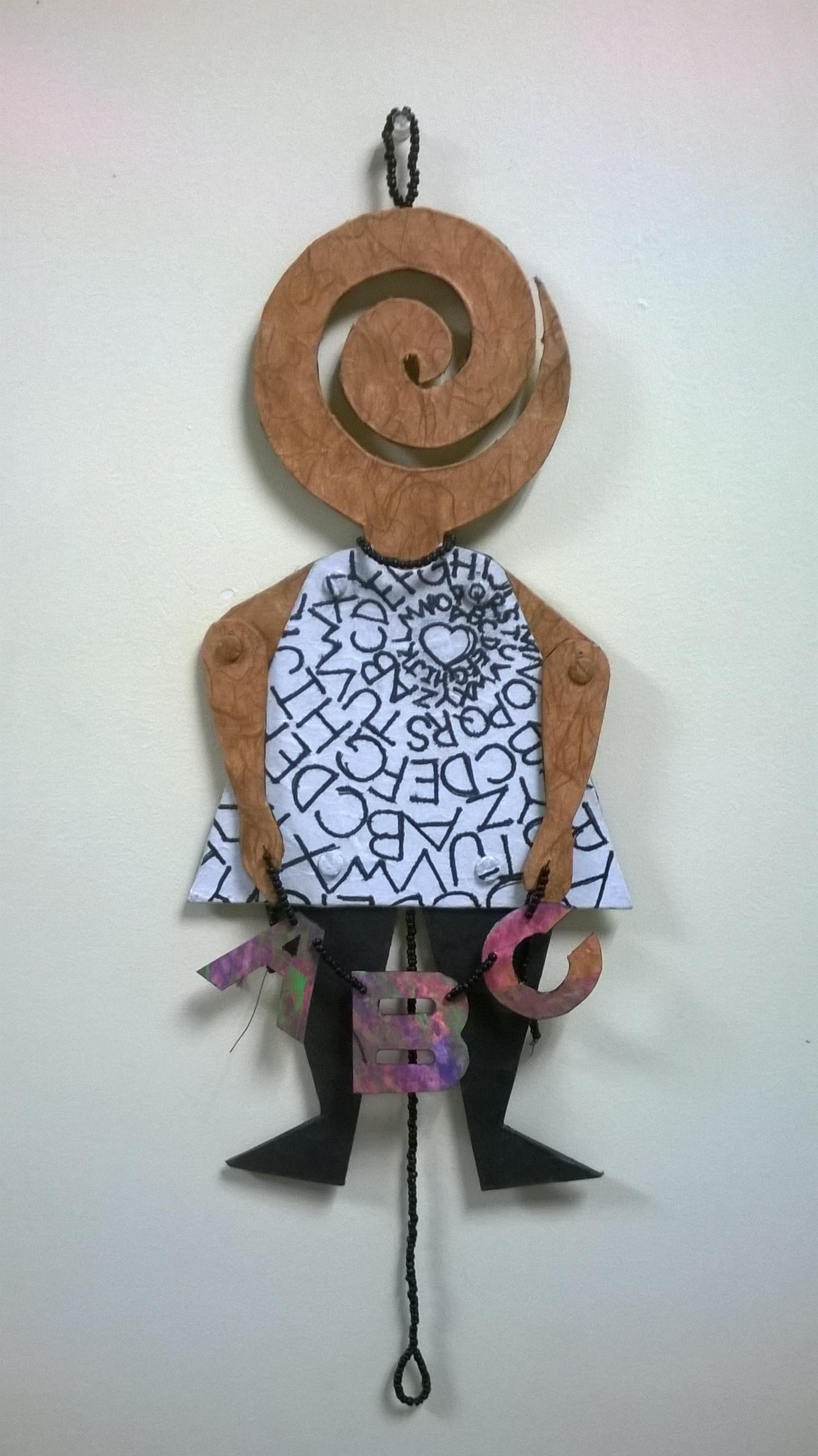 Alphabet jumping doll