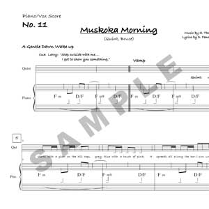 Muskoka Morning Sample Page
