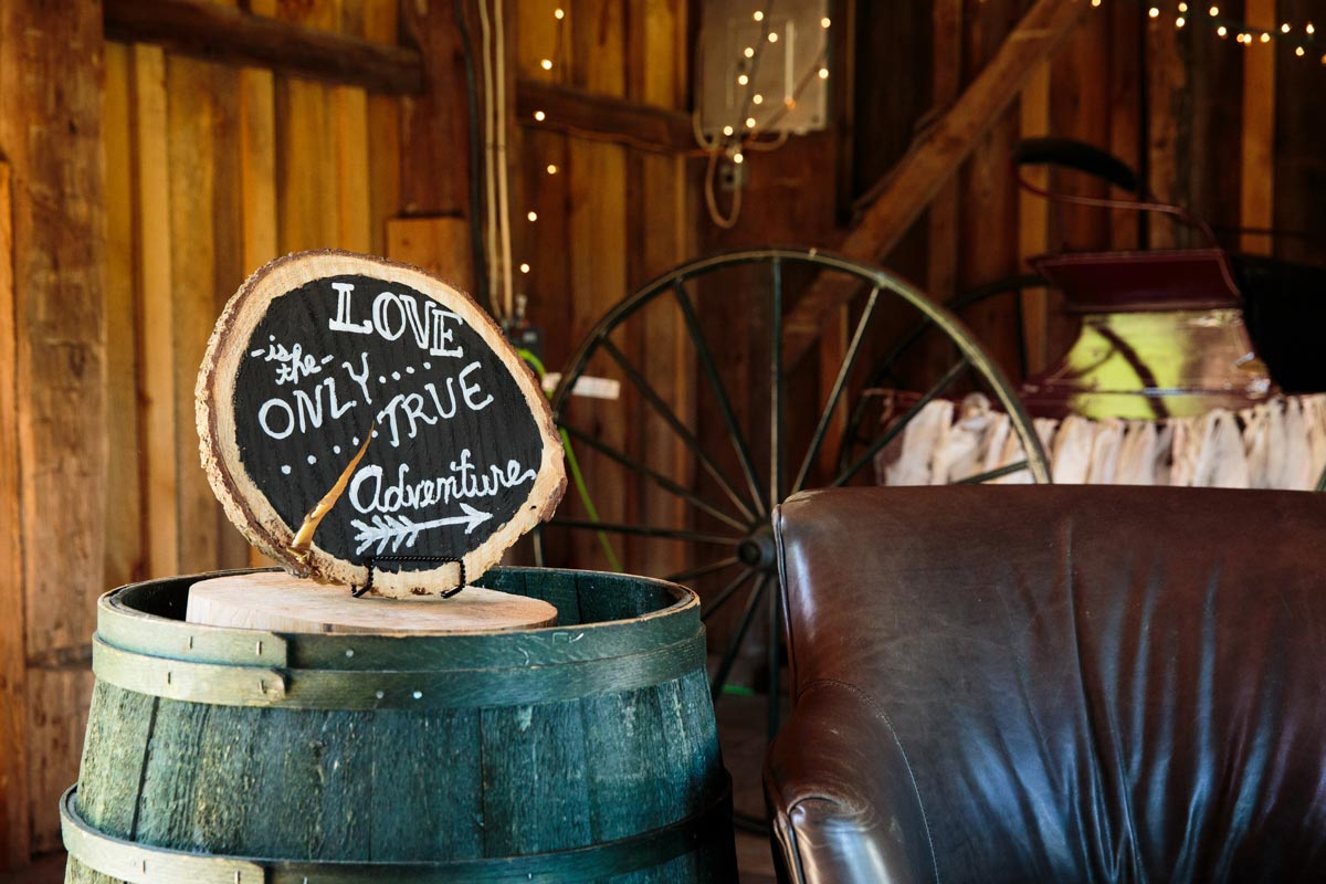 Burlap & Beams Wedding