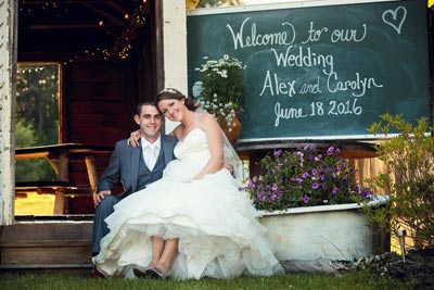 Burlap and Beams Wedding Photos
