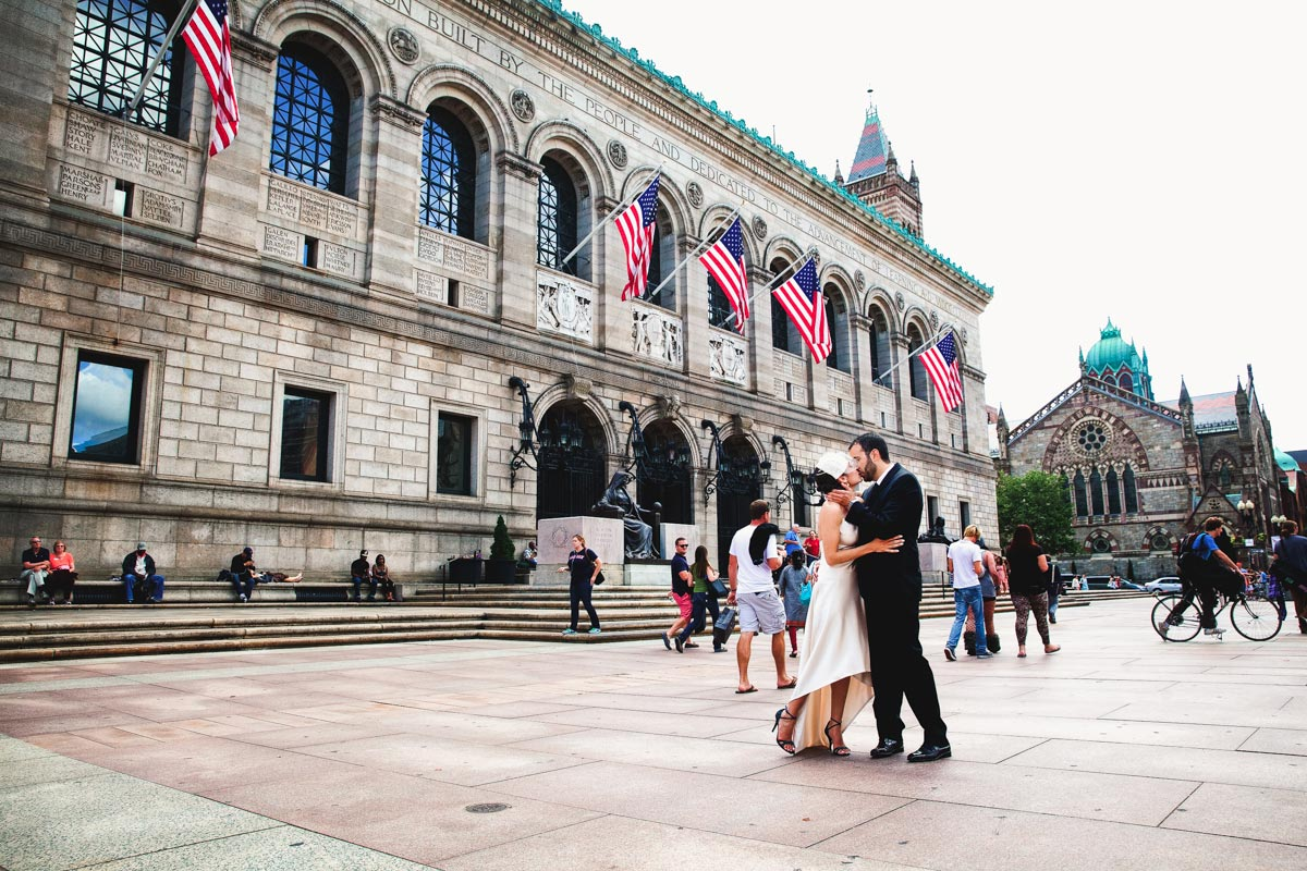 wedding at the Boston Public Library
