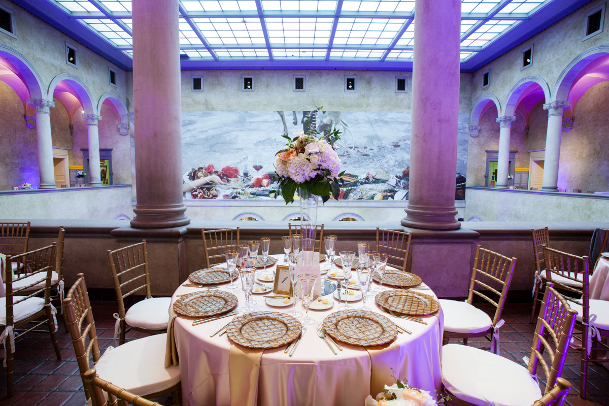 wedding reception at the worcester art museum