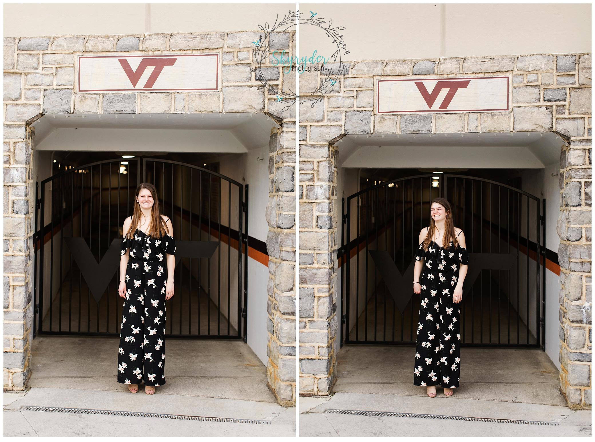 virginia tech VT senior session high school college blacksburg photographer photography roanoke skyryder virginia