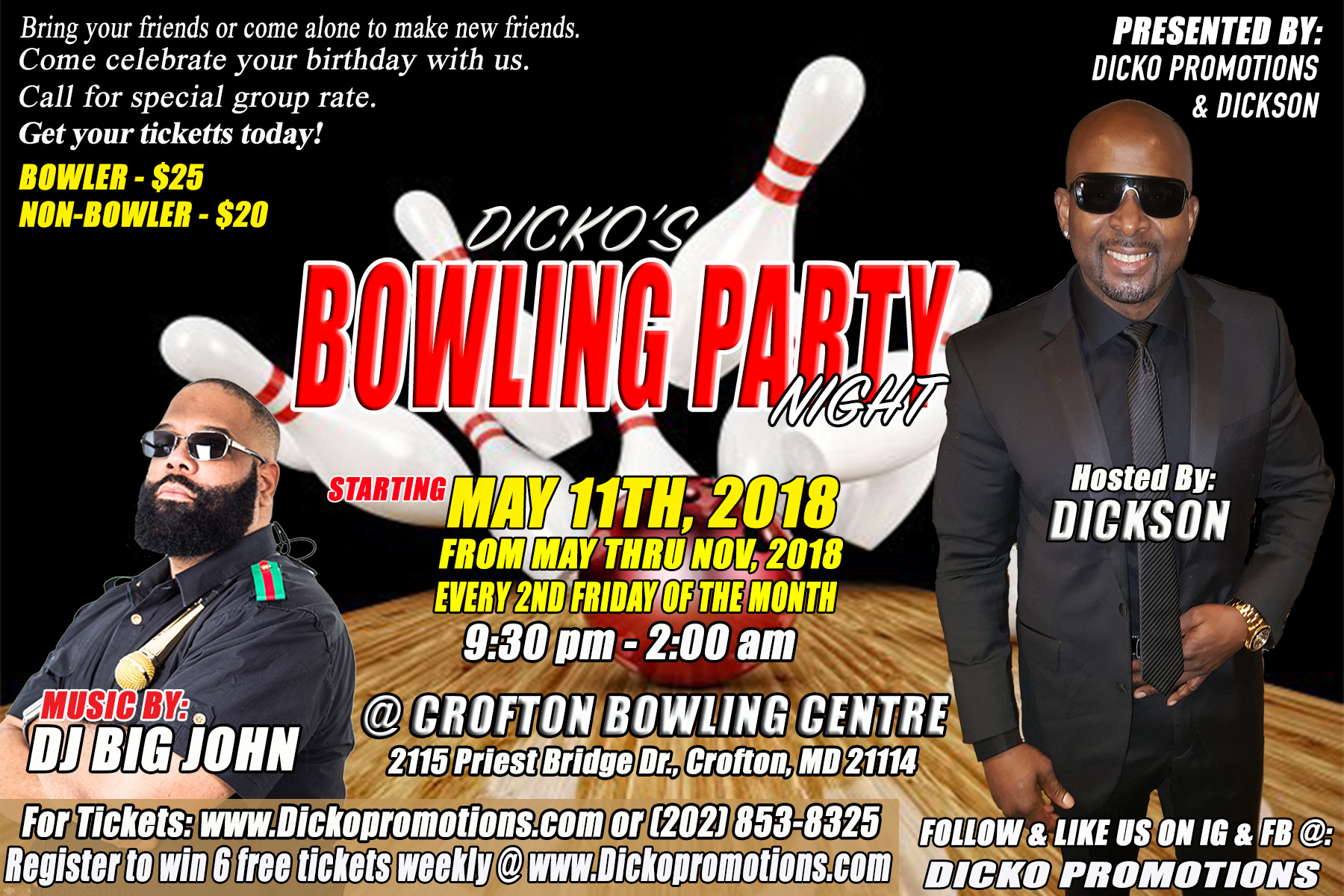 Dicko's Bowling Party 2018