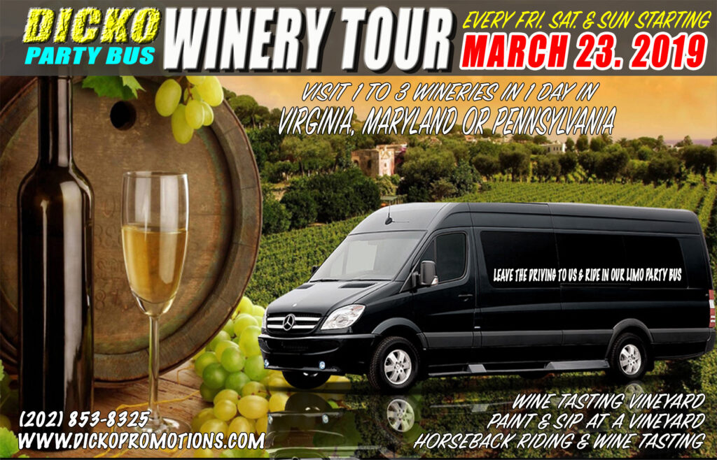 Dicko's Limo Bus Horseback Riding & Winery Tour