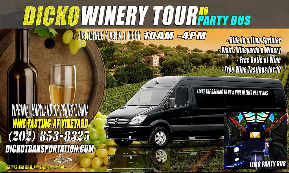 Dicko's Limo Bus Vineyard Tour