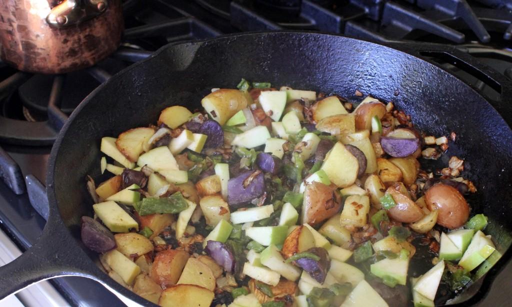 Salmon and Tri-Color Potato Hash