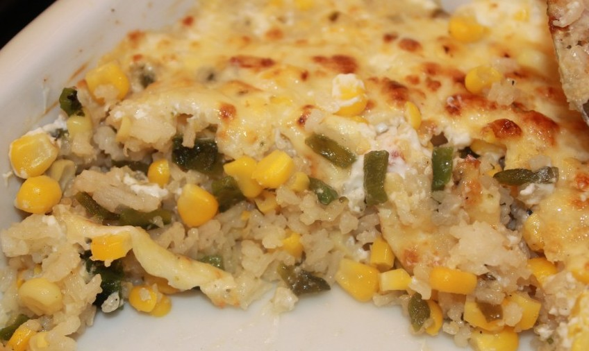 Poblano Rice Gratin from Fresh Mexico by Marcela Valladolid