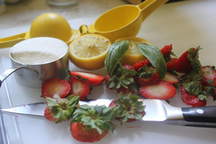 Strawberry-Basil Agua Fresca from Giada De Laurentiis