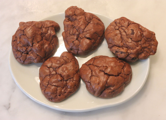 Dark Chocolate Walnut Cookies from There's Always Room for Chocolate