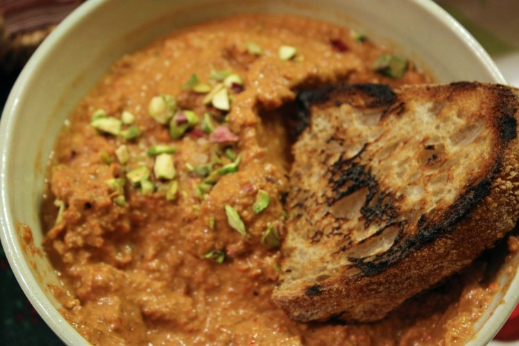 Muhammara: A Syrian Roasted Red Bell Pepper and Walnut Dip