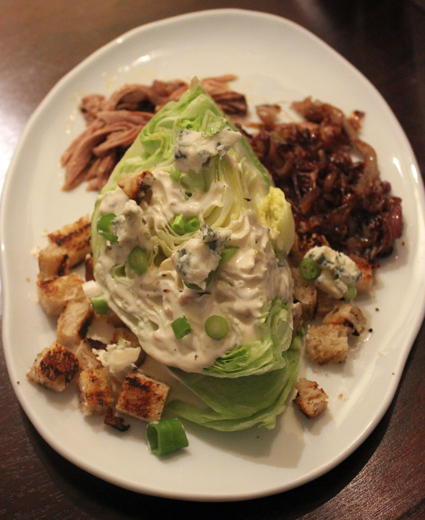 TBT Recipe: Iceberg Salad with Pulled Pork