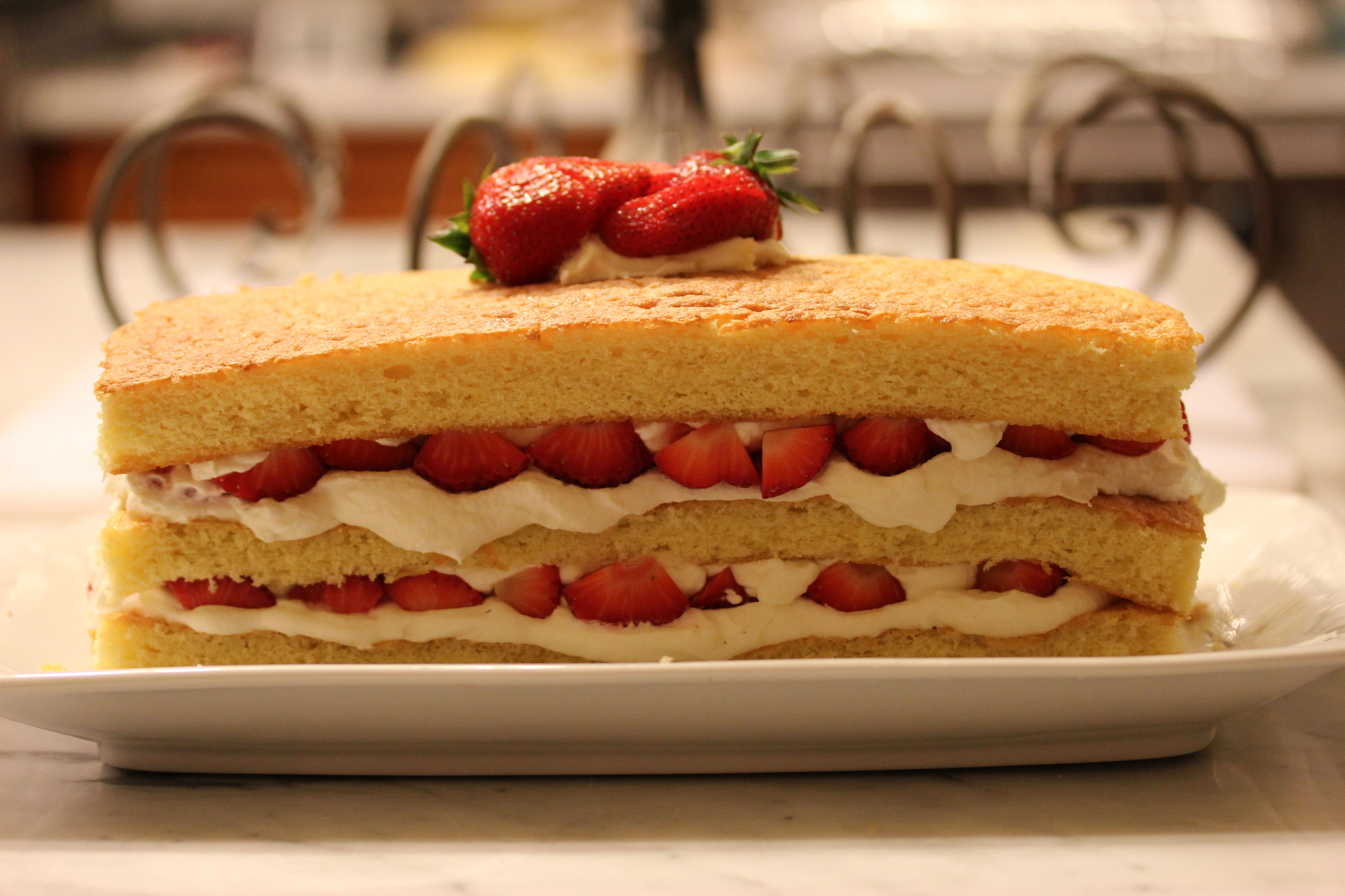 Strawberry and White Chocolate Buttermilk Cake
