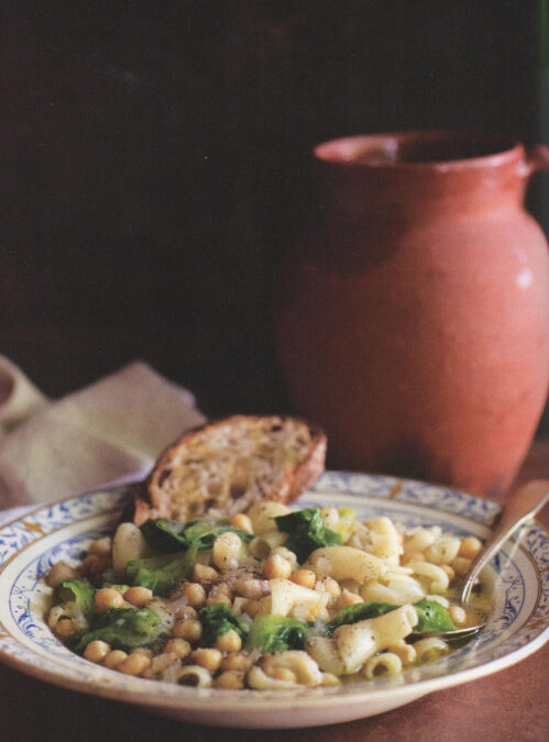 Pasta with Chick peas, Pancetta, Garlic and Escarole from The Four Seasons of Pasta