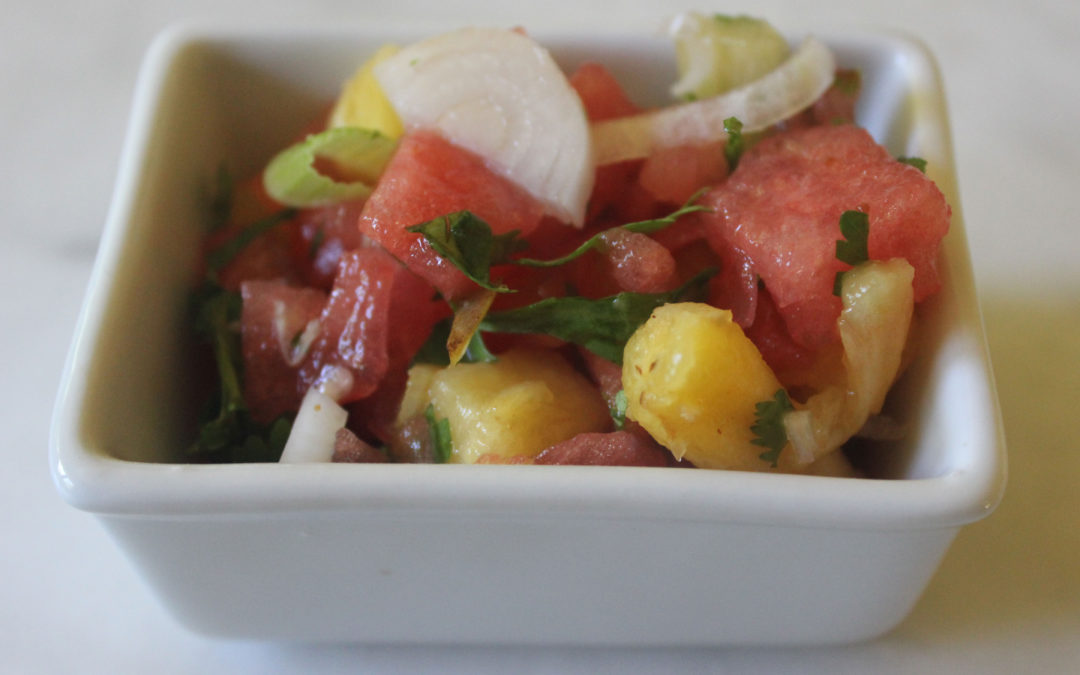 Brian's Watermelon and Pineapple Salsa with a Splash of Tequila