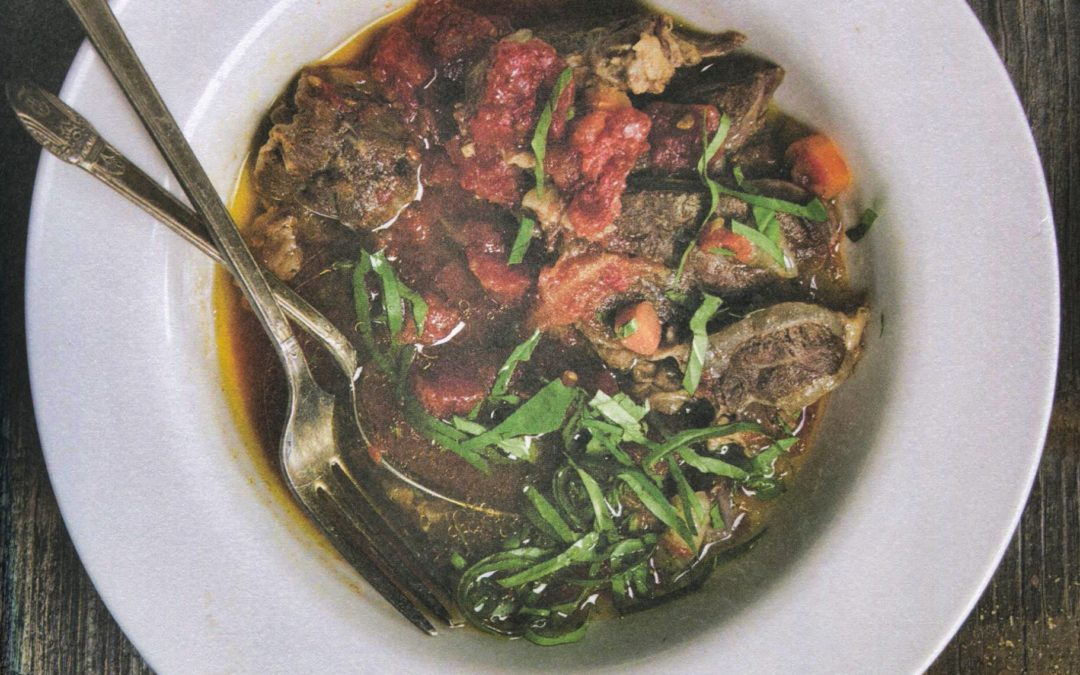 Beef Shank with Garlic and Basil from Jennifer McGruther