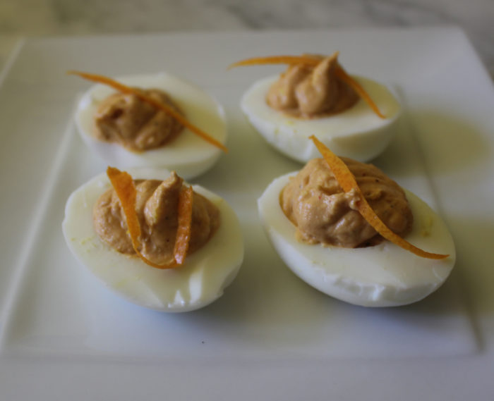 Satan's Smokin' Oranges or Hot Deviled Eggs in the Jenn-Air Steam and Convection Oven