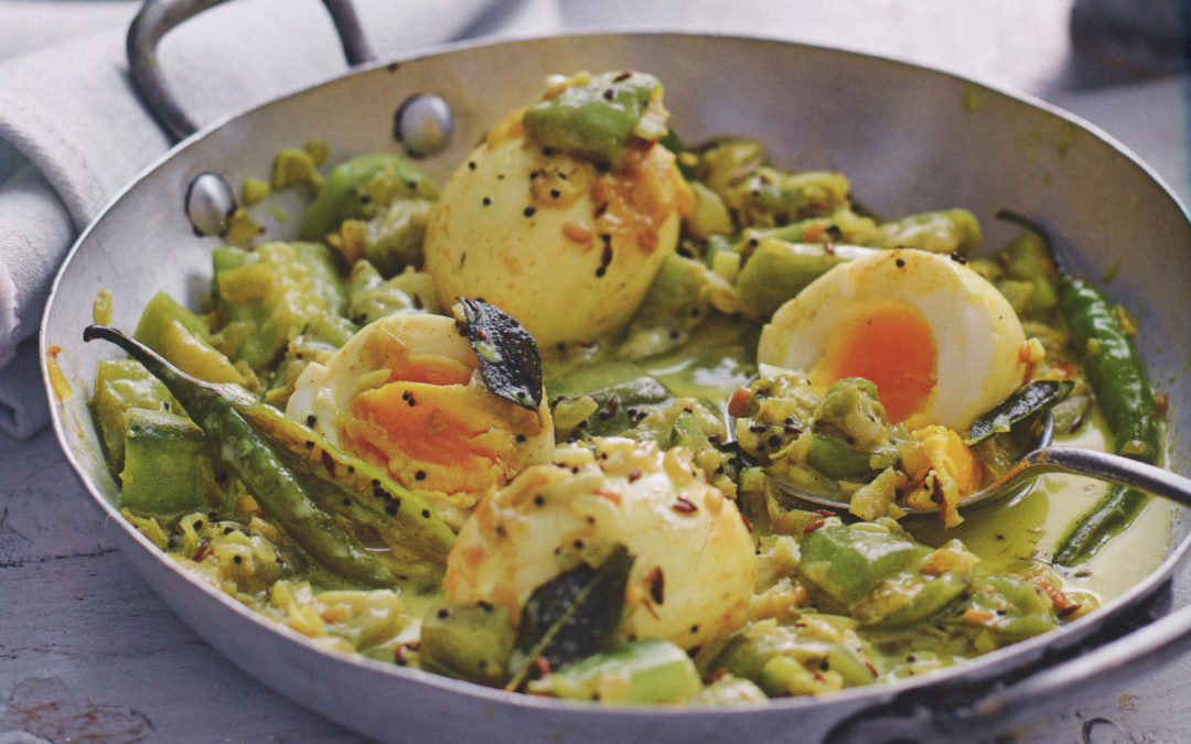 Egg and Ridge Gourd Curry