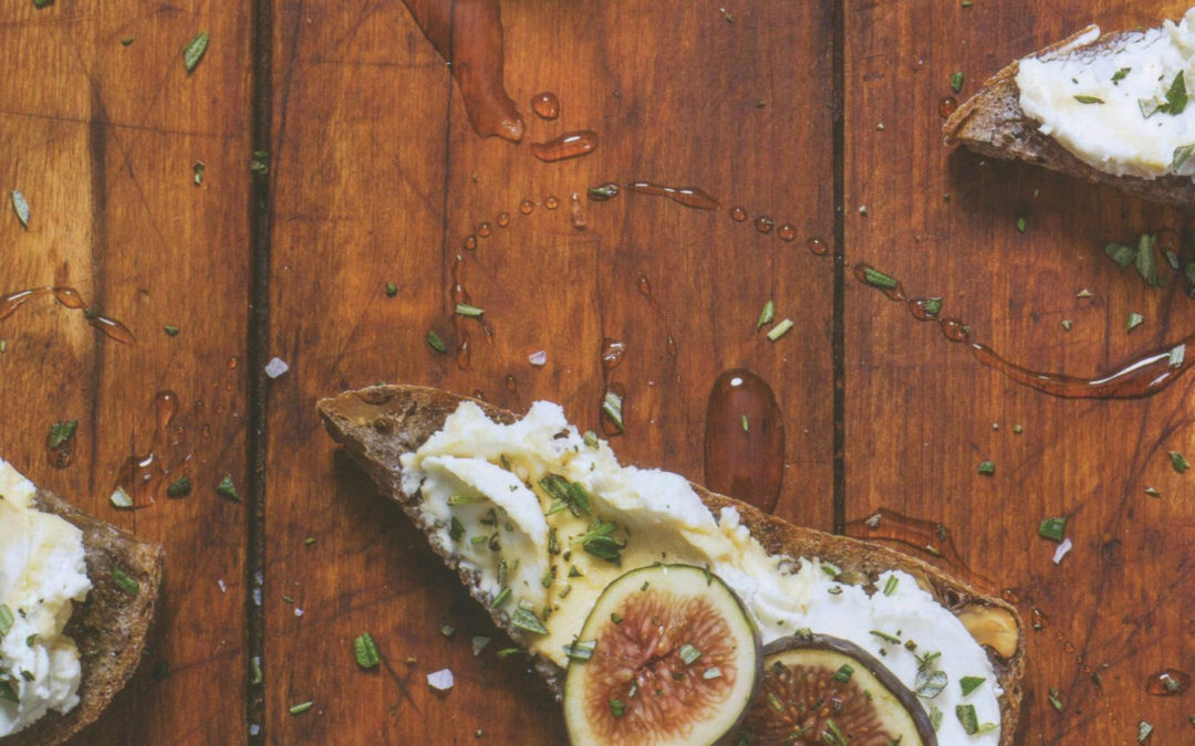 Fig, Goat Cheese and Rosemary Toast from bring it! by Ali Rosen