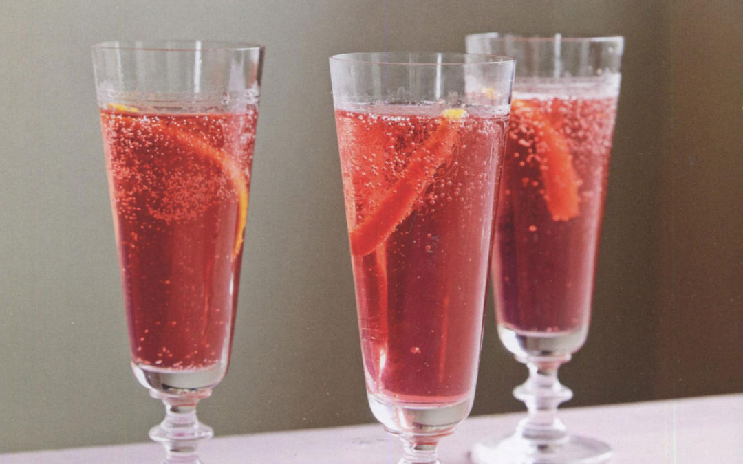 The Poinsettia: The Ideal Party Cocktail [especially for New Year's Eve!]