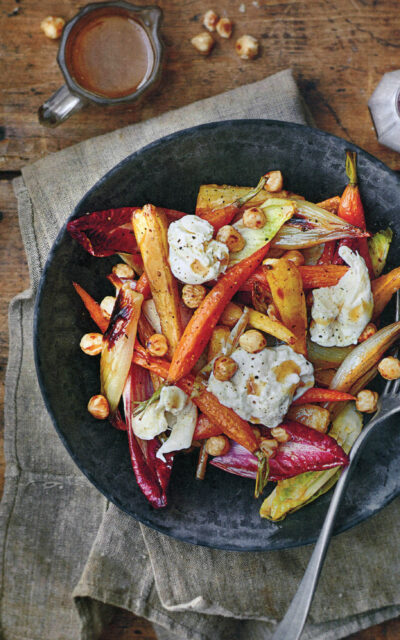 Thanksgiving Idea: Roasted Winter Vegetable and Burrata Salad from Cooking Blokes + Artichokes