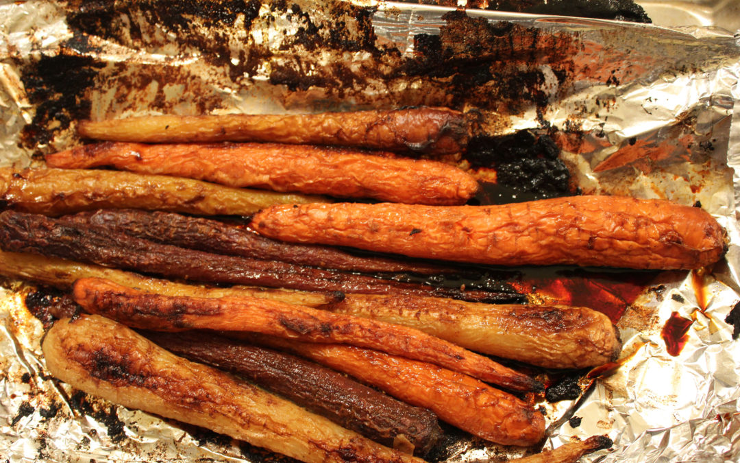 Balsamic Roasted Carrots [with Brown Sugar]