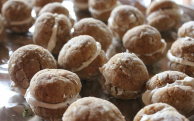Gingerbread Crinkle Sandwich Cookies by Baking from Scratch