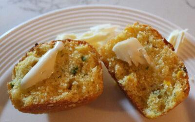 [Blue] Corn Jalapeno Muffins