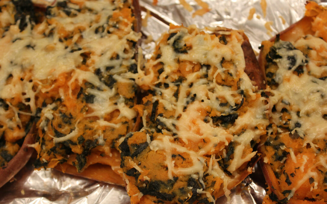 Twice-Baked Sweet Potatoes from Home Made in the Oven