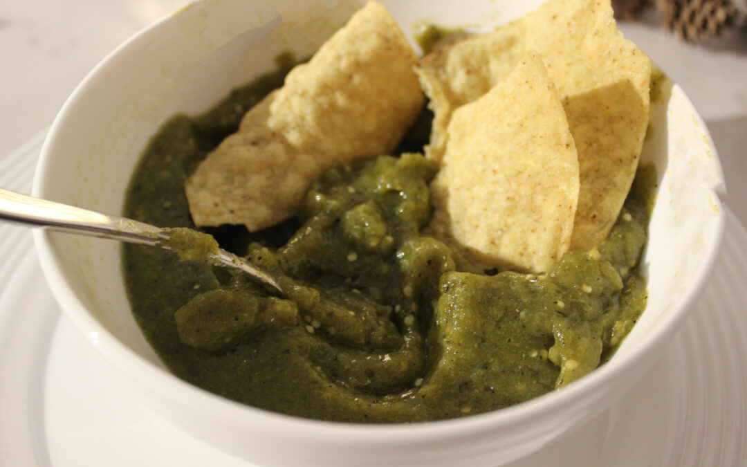 Roasted Tomatillo Salsa from Home Baked