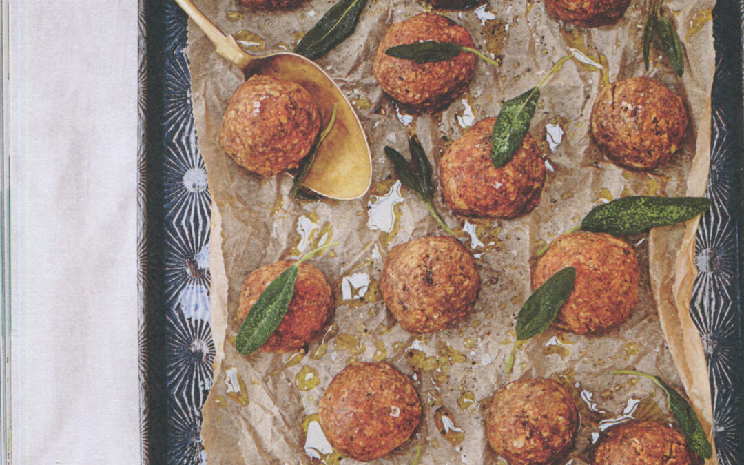 The Virus Cookbook: Lentil and Mushroom Meatballs