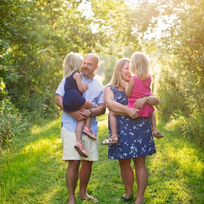 Family photo at sunset in Clifton Park NY