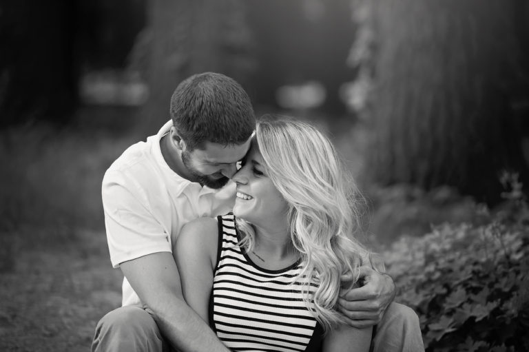black and white photo of couple